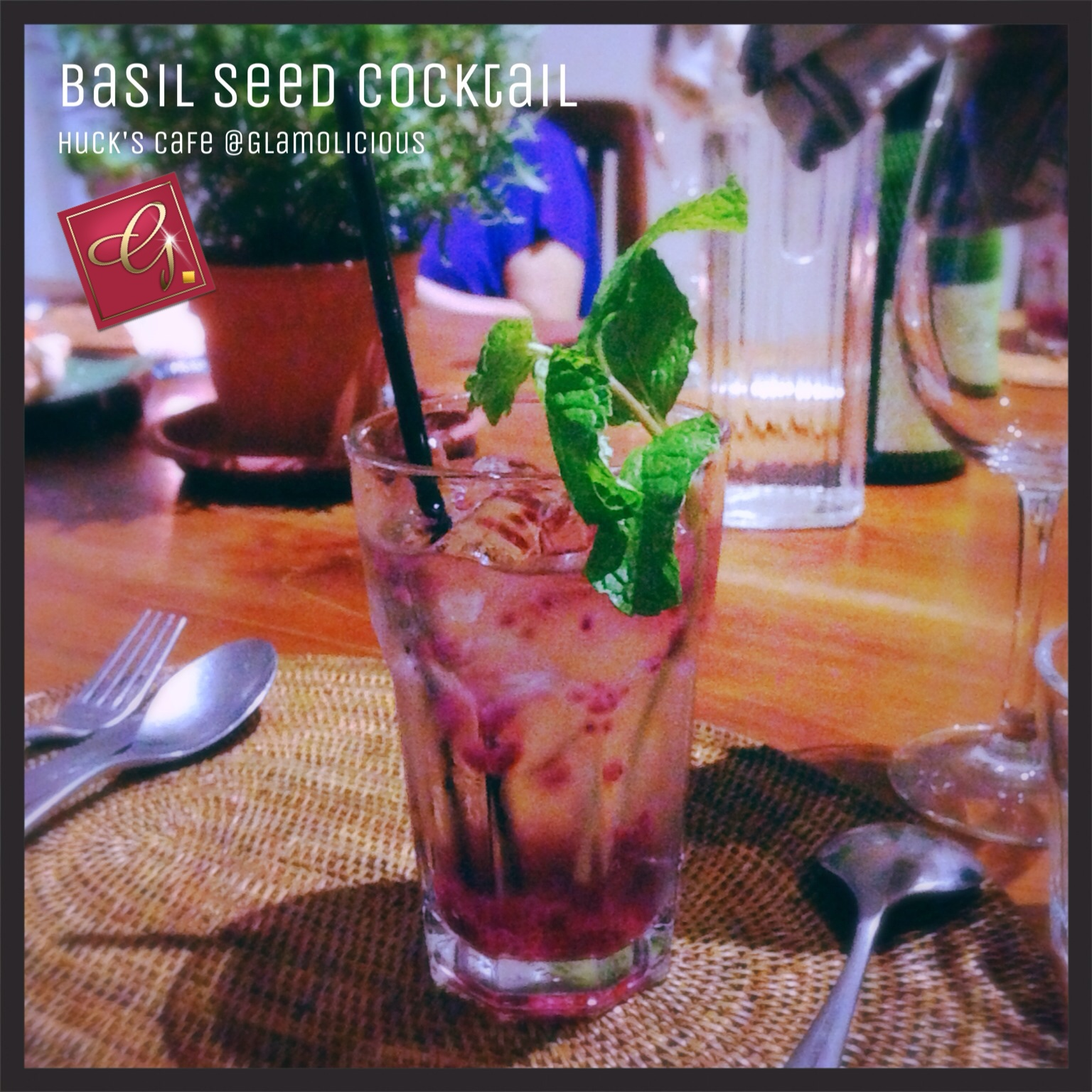 Basil Seed Drink by Huck's Cafe